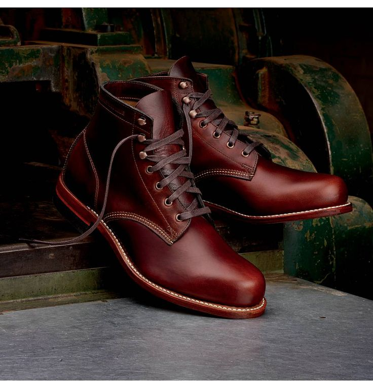 Men's 1000 Mile Boot. Wolverine Vintage Boots. These are in the colour Rust, but the Cordovan No. 8 coloured boots are my favourites though.