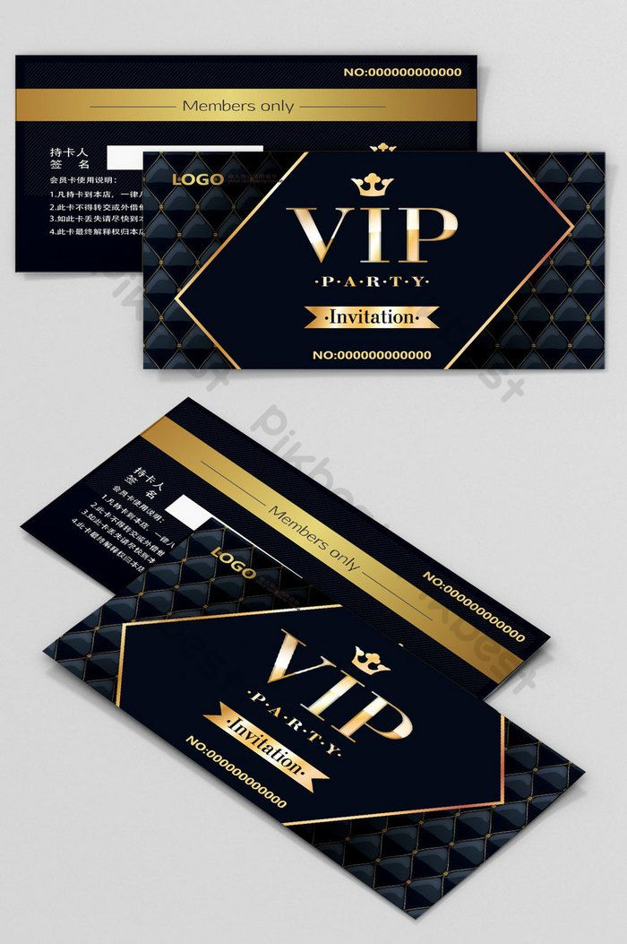 Black Gold Business Vip Membership Card Template Ai Free Download Pikbest Vip Card Design Vip Card Gold Credit Card