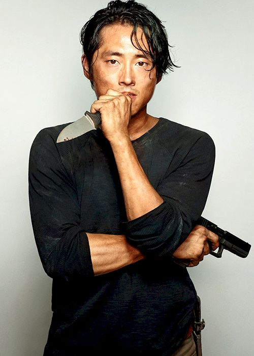 Steven Yeun as Glenn Rhee photographed by Dylan Coulter for the September 2014 issue of Entertainment Weekly