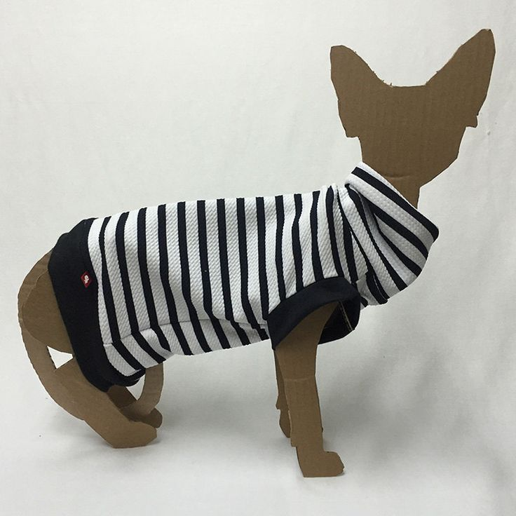 Chandail rayé à col roulé, vêtement pour chat Polocats de la boutique PolocatsCreations sur Etsy