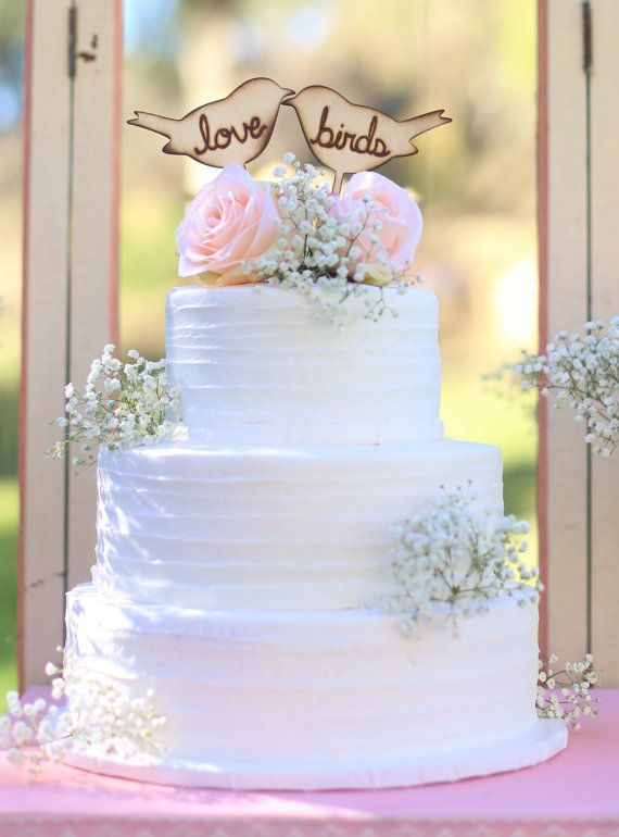 Rustic Love Birds Cake Topper by Morgann Hill Designs #MorgannHillDesigns #BraggingBags on Etsy, $24.99