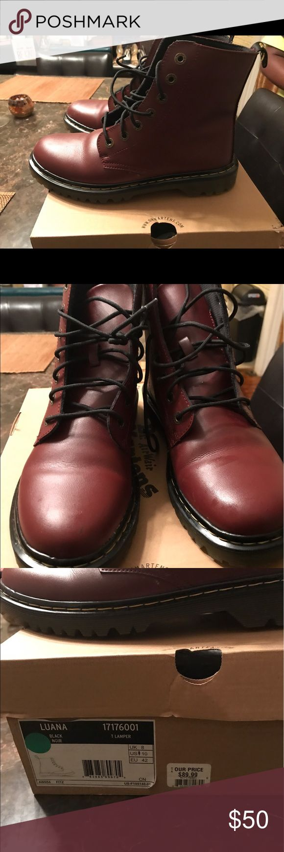 Doc martins Launa boots.  Size 10 Doc Martin boots size 10 doc martins Shoes Combat & Moto Boots
