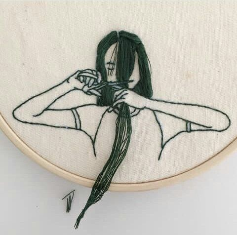 Imagem de asian, embroidery, and girl