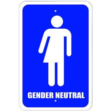 Gender Neutral Bathroom - All Gender Transgender Transexual Restroom Sign
