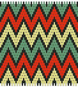 Medieval Arts & Crafts: Brick stitch pattern #9