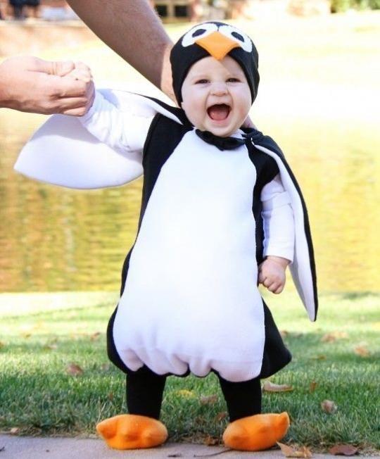 halloween verkleidung  baby penguin idee süß