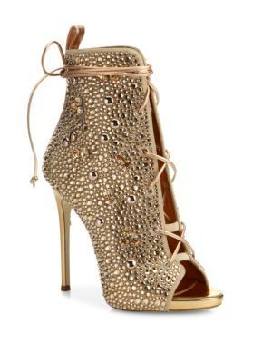 e6646350392 GIUSEPPE ZANOTTI Giuseppe for Jennifer Lopez 110 Crystal-Embellished Suede  Lace-Up Booties.  giuseppezanotti  shoes  flats  GiuseppezanottiHeels