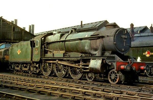 GWR No.1013 County of Dorset at Swindon shed. 26th of April 1964.