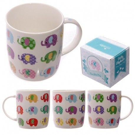 Mug nature - Design Eléphants Colorés
