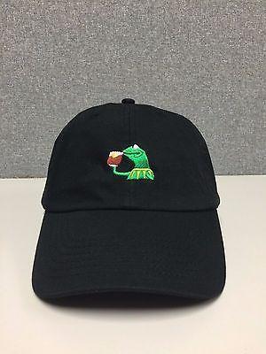 KERMIT TEA Hat (slide buckle) none of my business emoji king lebron james meme