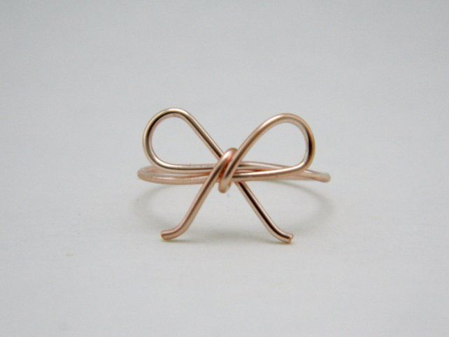 Forget me not wire wrap ring