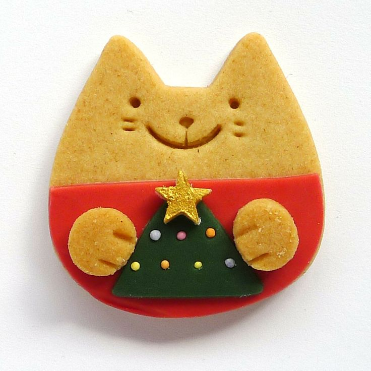 christmas kitty cookie