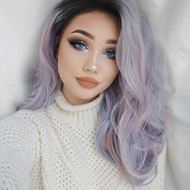 HAPPY NEW YEAR EVERYONE hope you all have a great day and thankyou millions for all the support ❤  Wig- @uniwigs (always wanted unicorn hair hehe)  Brows- @anastasiabeverlyhills pomade in medium brown  Lashes- @lillylashes Cannes  Shadows- @toofaced sweet peach   Inner corner highlight- @anastasiabeverlyhills moonchild palette - Purple Horseshoe  Gel liner- @sigmabeauty line ace  Mascara- @toofaced better than sex  Primer- @nyxcosmetics primer spray  Base- @urbandecaycosmetics all nighte...