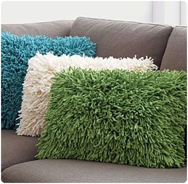 pillow from a bath mat-  for kids' playroom...maybe extra big ones for the floor!