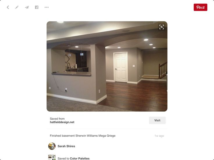 Basement Paint Color Sherwin Williams Mega Greige