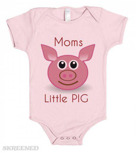 Moms little Pig - one piece baby tee shirt
