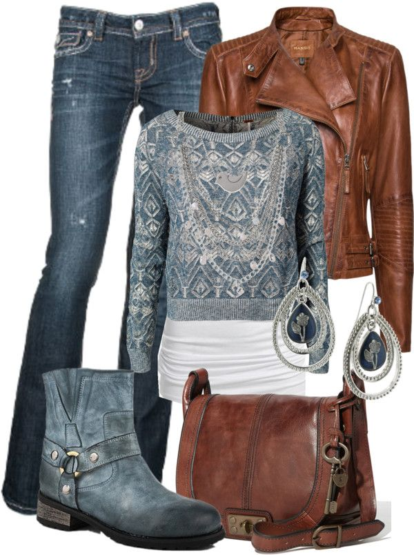 I love everything but the shoes those I'd switch w either brown boots or tan flats