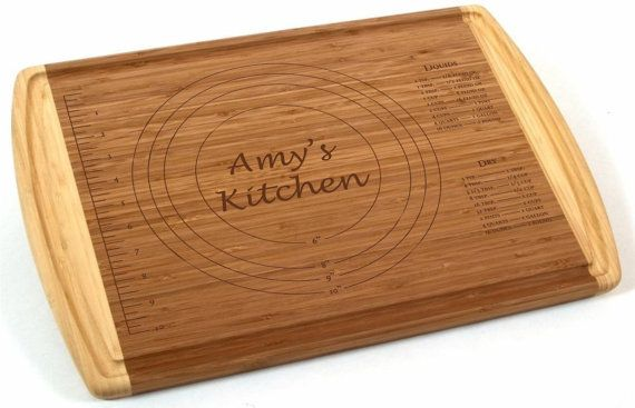 """Personalized Kitchen Conversions Cutting Board 18x12"""" with Groove - Classic Wedding Gift with Personalization, Chef Gift or Kitchen Display"""