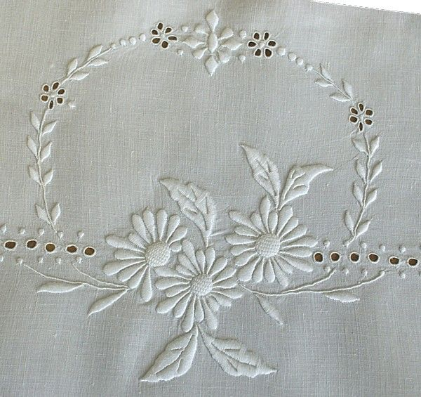 White on White Embroidery • Marguerite