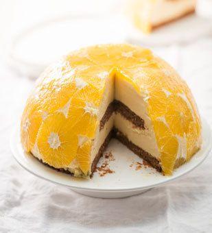 Orangen-Kuppeltorte: Einfach ein Muss für alle, die es gern fruchtig mögen - und Schokolade lieben..