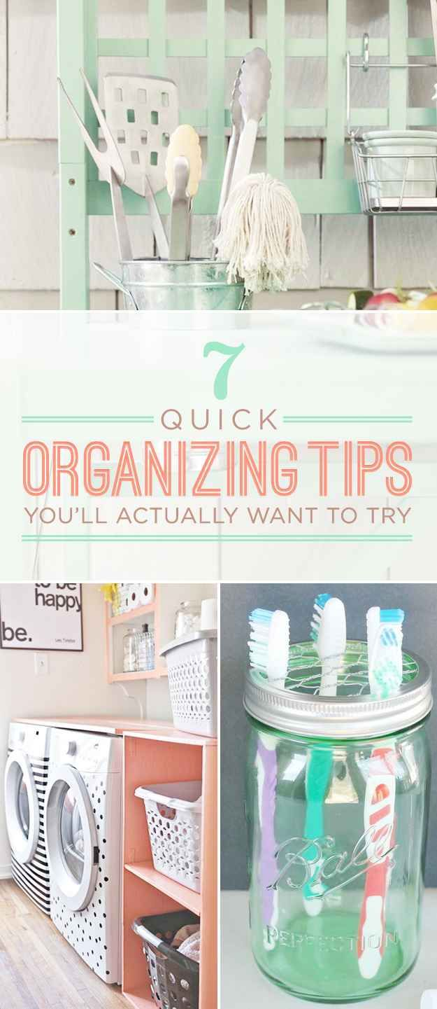 7 Easy Organizing Tricks You'll Actually Want To Try. Organization  IdeasStorage IdeasHousehold ...