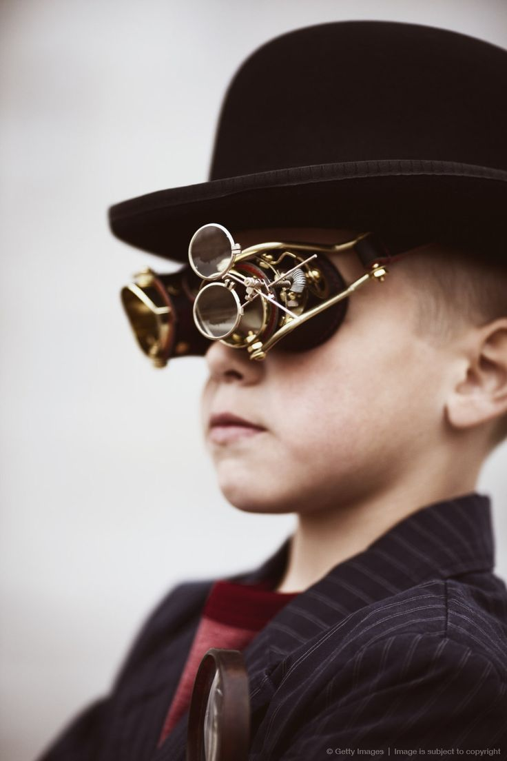 Steampunk Kid. Available for purchase at GettyImages. Starting at $60.