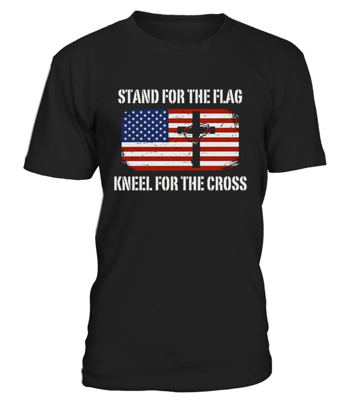 ***LIMITED EDITION***    This Patriotic Tee is awesome for Christmas, Birthday, Valentine's Day, Father's Day, Mother's Day, Couple Relationship Anniversary, Wedding, Graduation or ANY occasion! A perfect gift for any patriot, nationalist, loyalist, soldier and army.   This Stand For The Flag Kneel For The Cross Patriotic t-shirt is a great gift idea for people who love receiving patriotic gifts like Merica Sunglasses Patriotic T-Shirt, patriotic decorations, patriotic clothing,...