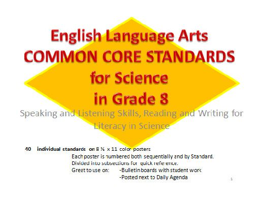 Common Core State Standards for ELA/Literacy