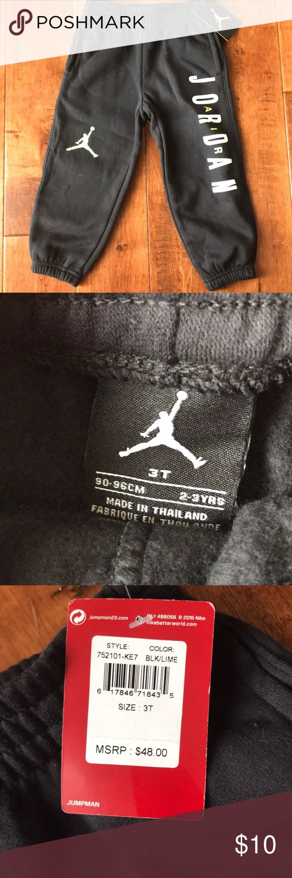 Toddler Jordan sweats Brand new. Jordan brand. Toddler size 3T. Black sweat pants. Jordan Bottoms Sweatpants & Joggers