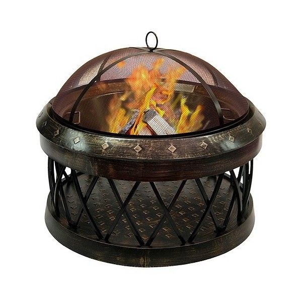 Outdoor Fireplace: Landmann Bartow Firepit in Antique Bronze ($250) ❤ liked on Polyvore featuring home, outdoors, outdoor fire bowl, outside fire pit, fire pit, outdoors fire pit and outdoor fire pit