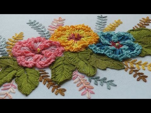 """ШОВ """" ШТОПКА""""   Hand Embroidery: Checkered Flower Stitch - YouTube"""