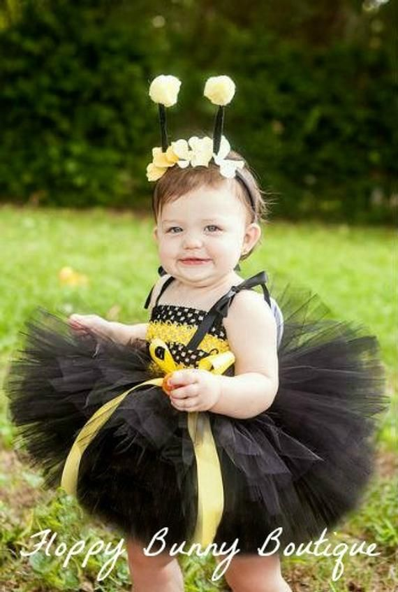 Bumble Bee Tutu Dress-Black Tutu Dress-Flower Girl Dress-Cake Smash Tutu-Bee Birthday Tutu Dress-Bumble Bee Party Dress-Baby Girl Dress