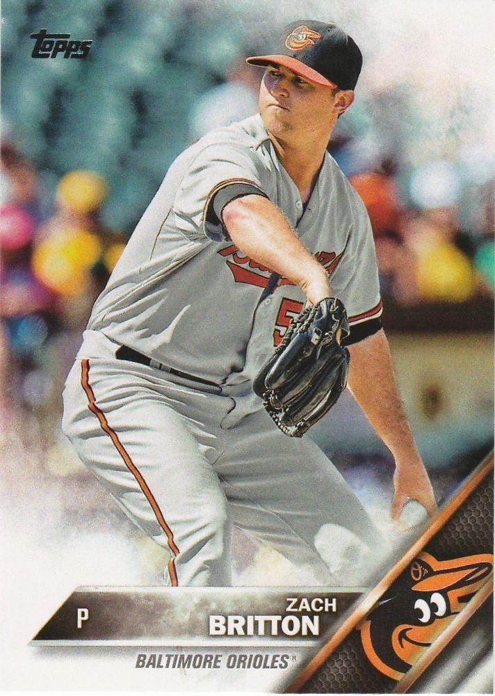 2016 Topps Baseball Series 1 Zack Britton #63 Baltimore Orioles #BaltimoreOrioles