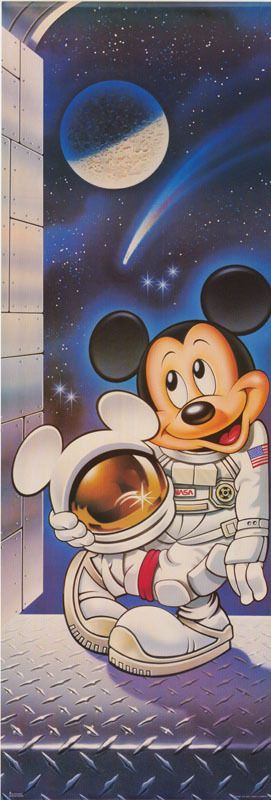 Door Poster Mickey Mouse Astronaut Free Shipping RAP1 C | eBay