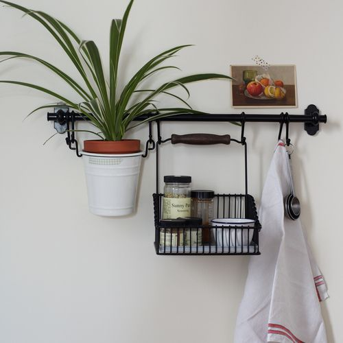 kitchen or bath. Love this addition to my small little bathroom. Cute, and adds extra space for a plant!