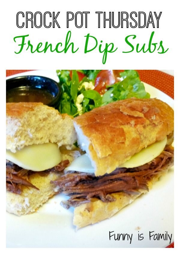 These Crockpot French Dip Subs are a family favorite! If you're looking for an easy crockpot recipe for dinner that will be loved by both kids and adults, here it is!
