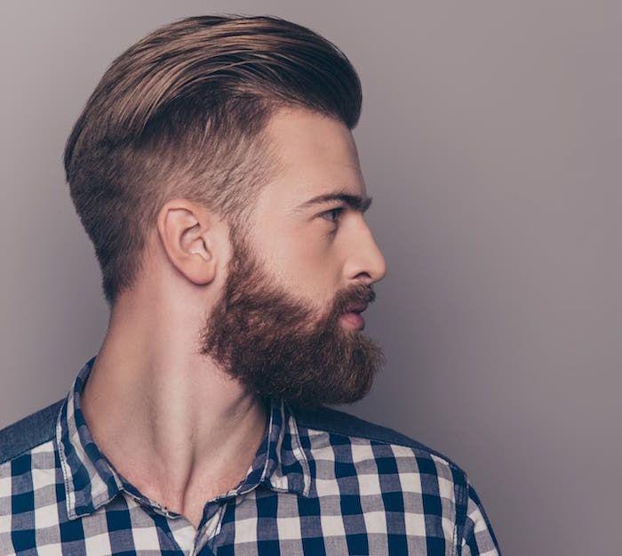Degrade Fondu Le Style Millimetre Cheveux Homme Coiffure Homme En Arriere Cheveux Courts Homme