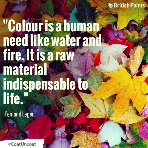 Can you imagine a life without colours? #CoatUncoat