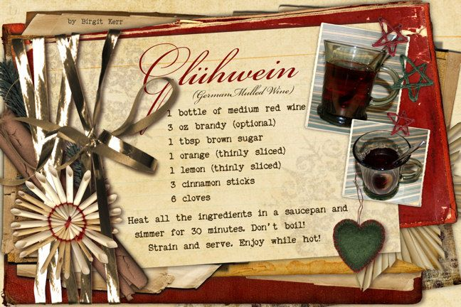 Gluhwein Recipe - mulled wine served at Christmas markets in Germany and Austria