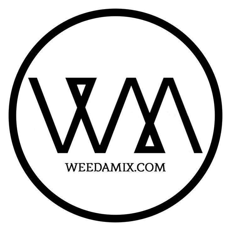 Weedamix.com Logo URL Black on White