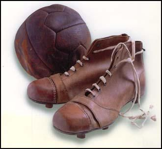 """According to the The Encyclopedia of British Football: """"Many players used to buy their boots on the small side and stand in a hot bath allowing them to expand, the aim being to mould the boot to suit the size of their feet."""""""