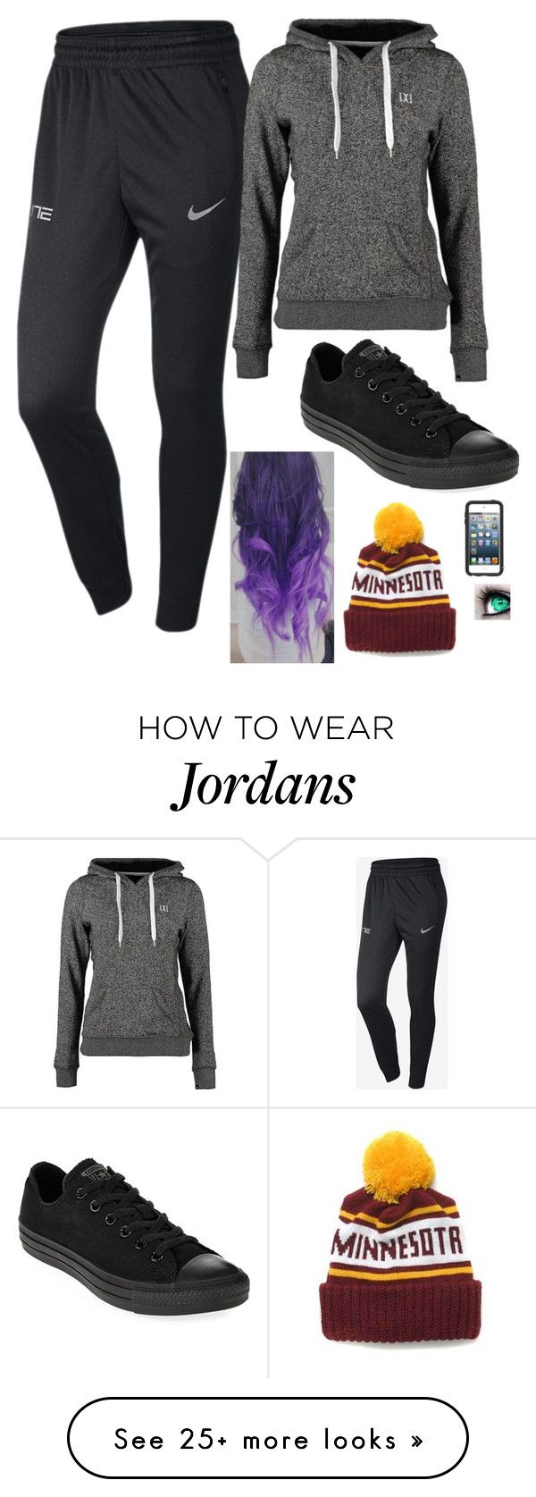 """Untitled #774"" by erika-demass on Polyvore featuring mode, NIKE, Converse, DC Shoes en OtterBox"