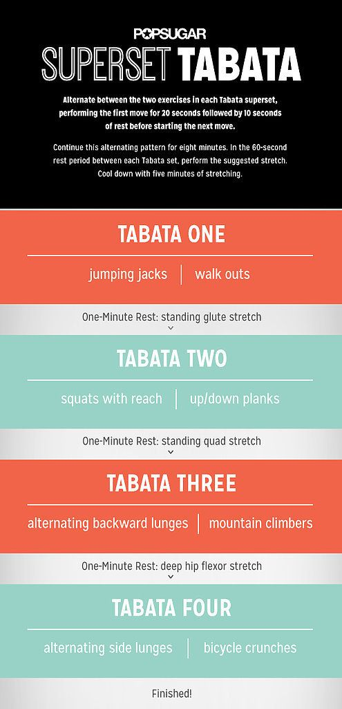 This Tabata workout gets the job done! It burns calories and build muscle. #bikinibody