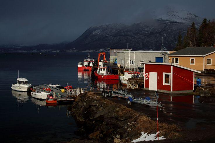 Sola skinner kun i Dyrøyhamn