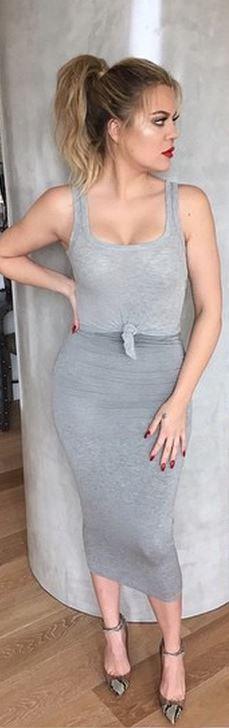 Khloe Kardashian: Shirt – Isabel Marant  Skirt – J Lux Label  Shoes – Christian Louboutin