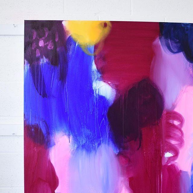 What do you think of these colours together? Not finished yet ....    . . . . . . . #abstractart #abstractexpressionism #canadianart #juliehawkins #juliehawkinsart #woodstock #ontario #femaleartist #artoftheday #originalart #makersgonnamake #artflowsessions #creativityfound #livewithart #doitfortheprocess #interiordesignideas #passioncolorjoy #homedecor  #artistsofinstagram #interiorstylist #mycreativelife #dscolor #colormehappy #dsart