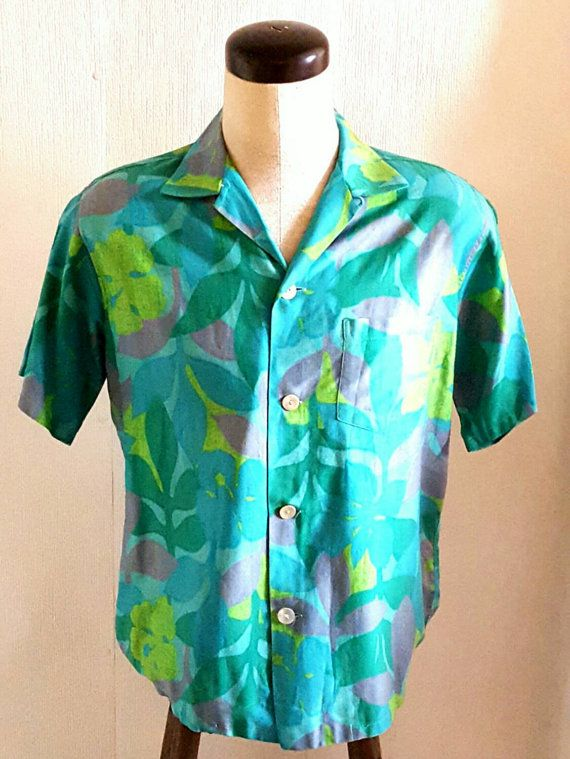 1960s Vintage Hawaiian Shirt rare w shell by Vintage4SteppinOut