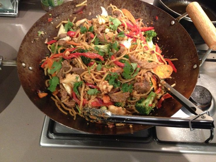 Satay noodles stir fry , better than any wok in a box store!!