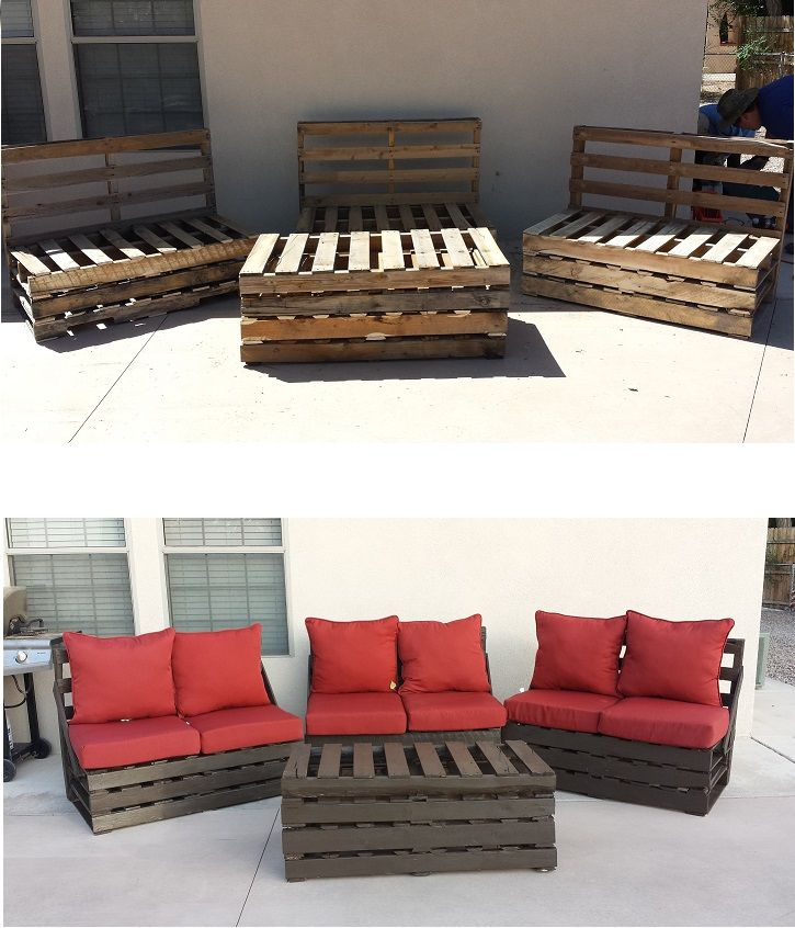 Pallet furniture - super easy to make, cheap, and durable.