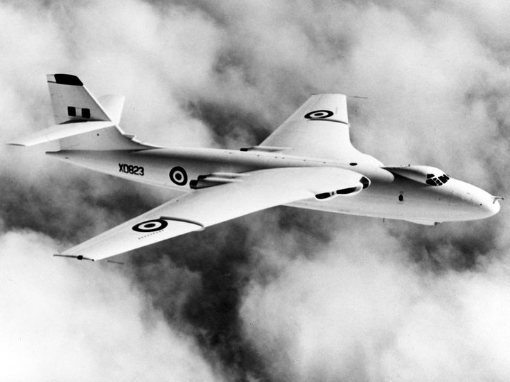 The Vickers-Armstrongs Valiant was a British four-jet bomber, once part of the Royal Air Force's V bomber nuclear force in the 1950s and 1960s. The Valiant was the first of the V bombers to become operational, and was followed by the Handley Page Victor and the Avro Vulcan.